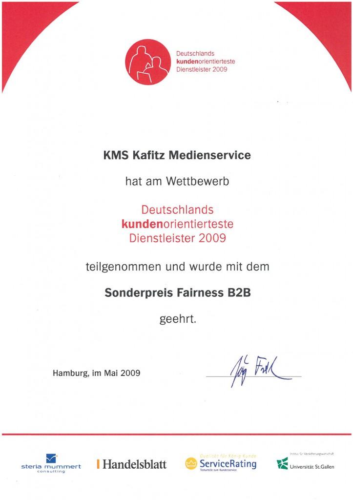 Sonderpreis Fairness B2B Auszeichnung