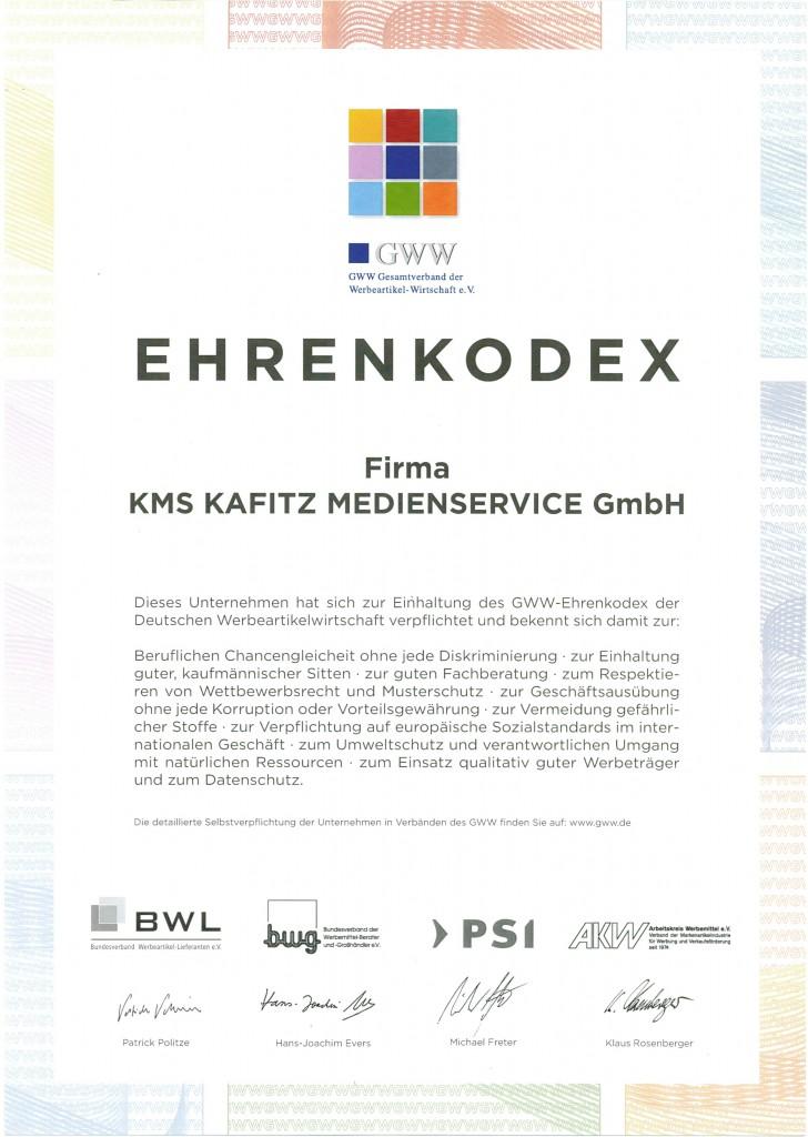 Ehrenkodex Auszeichnung